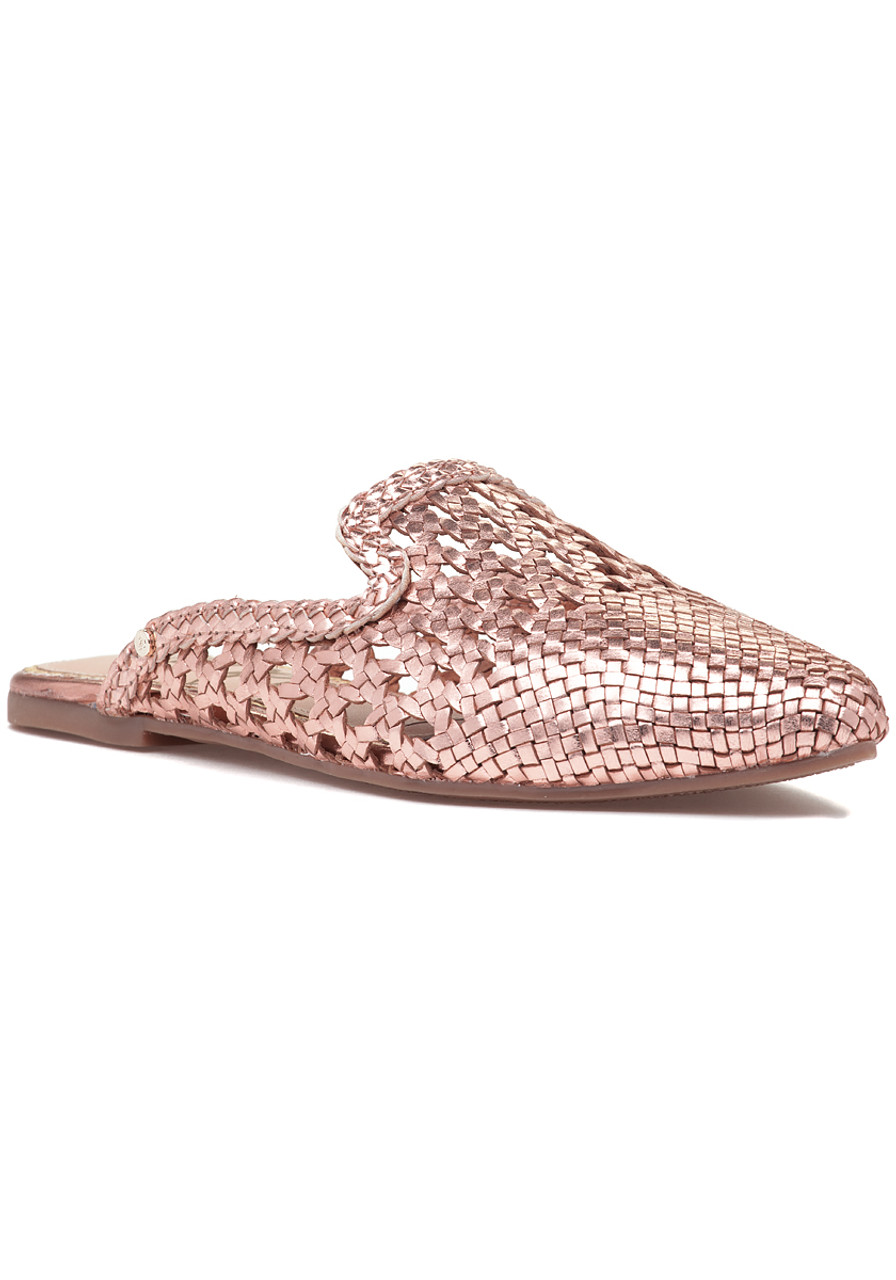 6e0a10915aff Navya Mule Rose Gold Leather - Jildor Shoes