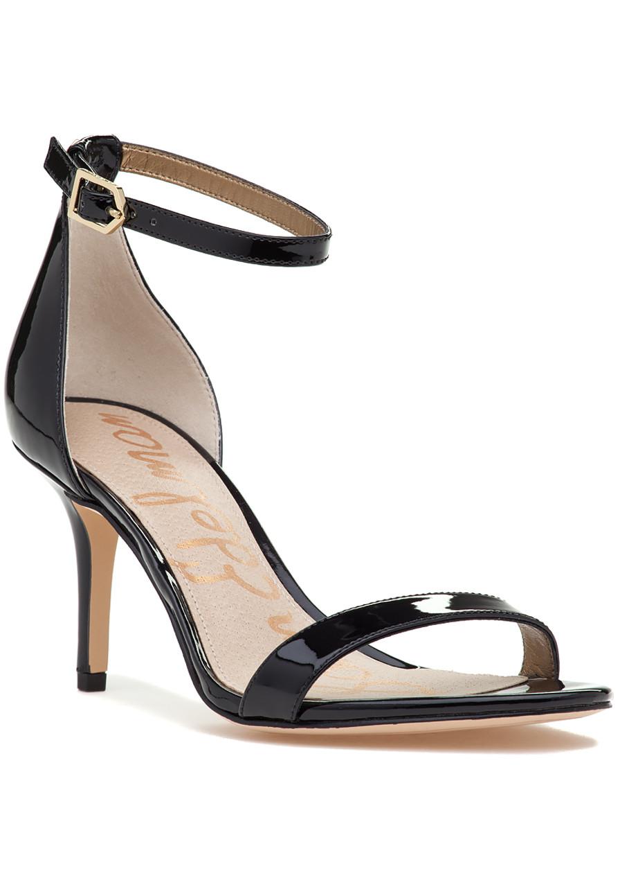 12abec284c91 Patti Sandal Black Patent - Jildor Shoes