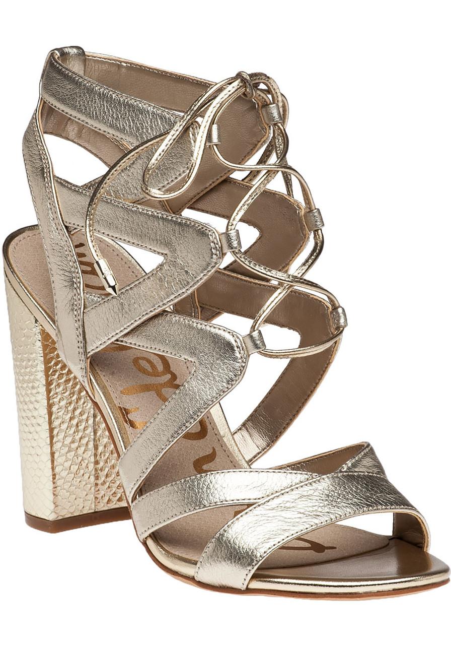 cf0367579aa Yardley Sandal Gold Lace - Jildor Shoes
