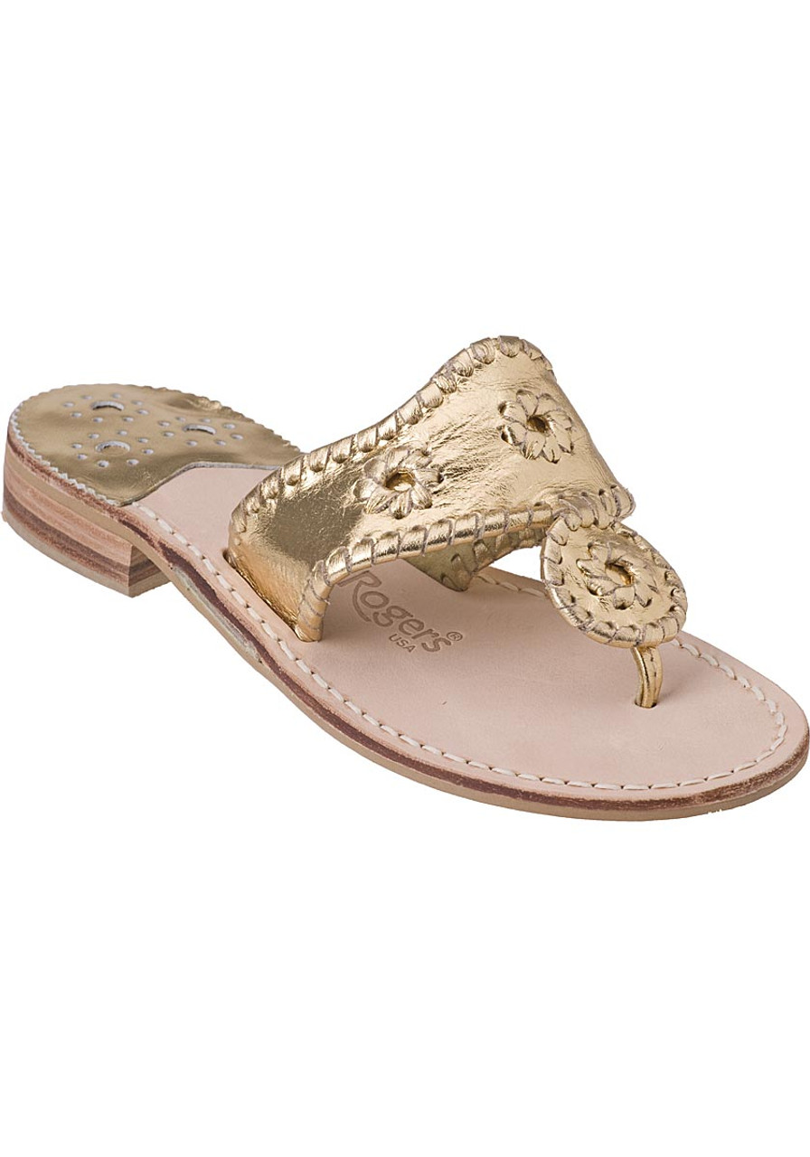 f7c8c58985194 Hamptons Thong Sandal Gold Leather - Jildor Shoes