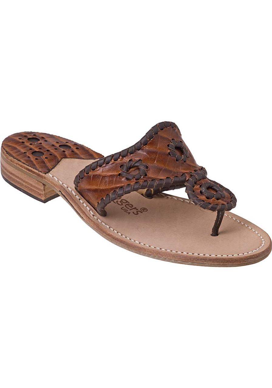 4a74e3c24 Navajo Thong Sandal Brown Croc - Jildor Shoes