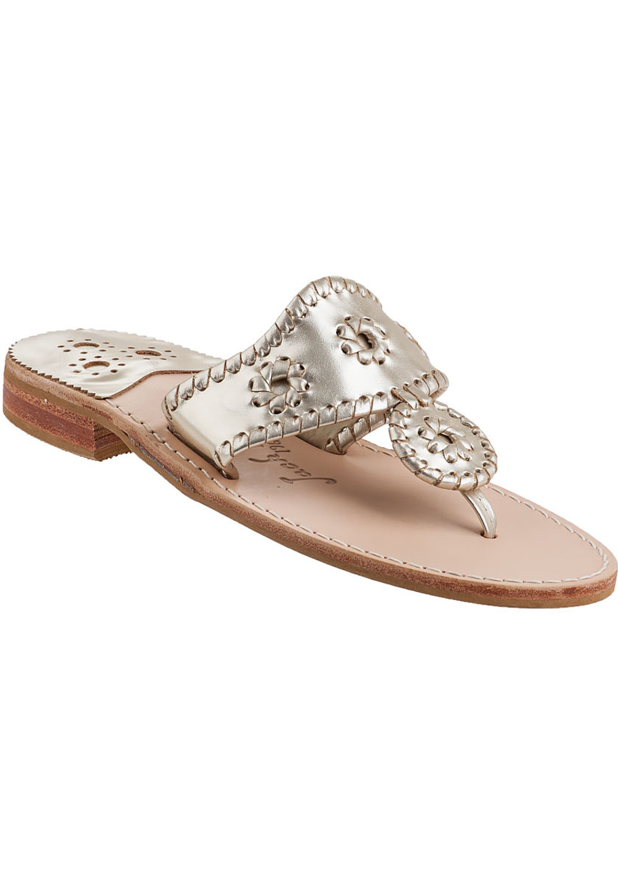 df8b10e037174 Hamptons Thong Sandal Platinum Leather - Jildor Shoes