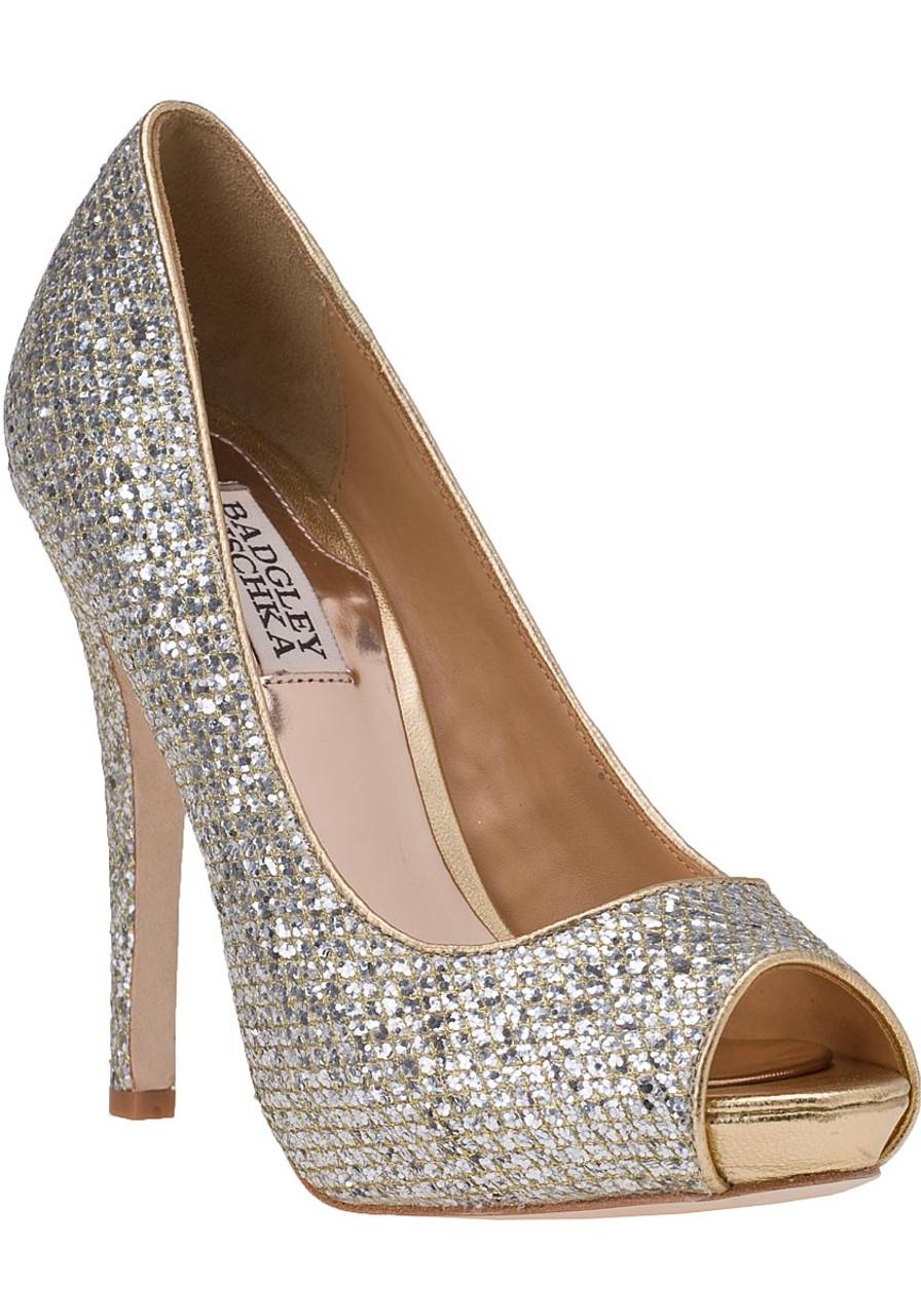 d30445287a9d Humbie II Evening Pump Gold Silver Glitter - Jildor Shoes