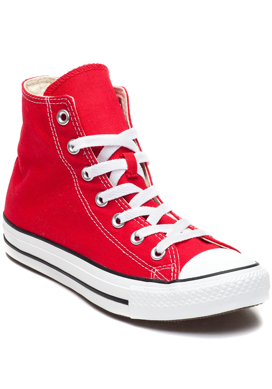 b37bd930ad7 Chuck Taylor All-Star High-Top Sneaker Red Canvas - Jildor Shoes