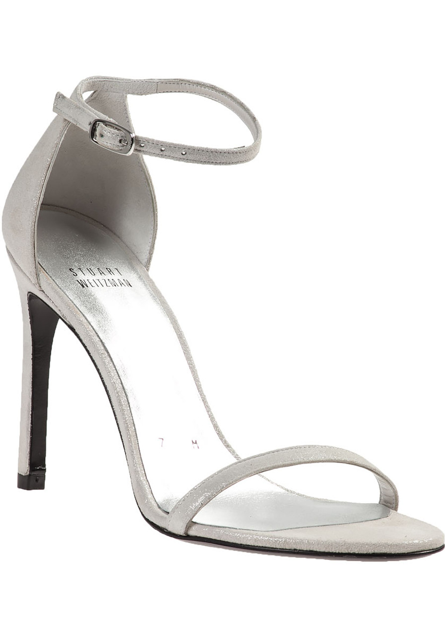 5a109480fd95 Nudistsong Sandal Silver Suede - Jildor Shoes