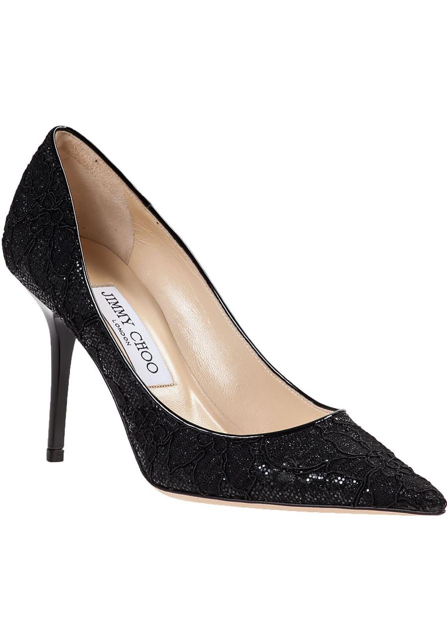 d690febf111 Agnes Pump Black Lace Fabric - Jildor Shoes