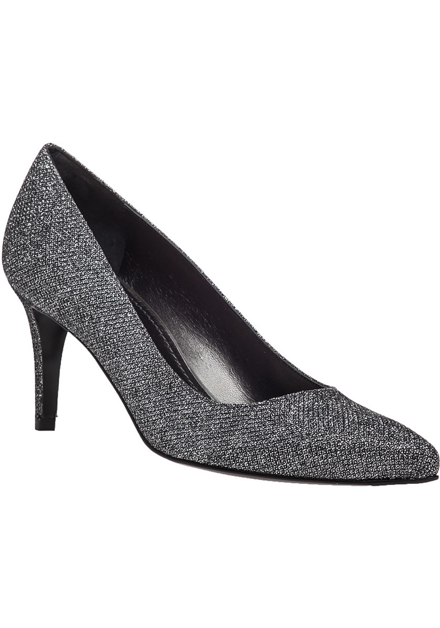 e22fdb2e053 Pinot Pewter Metallic Evening Heel - Jildor Shoes