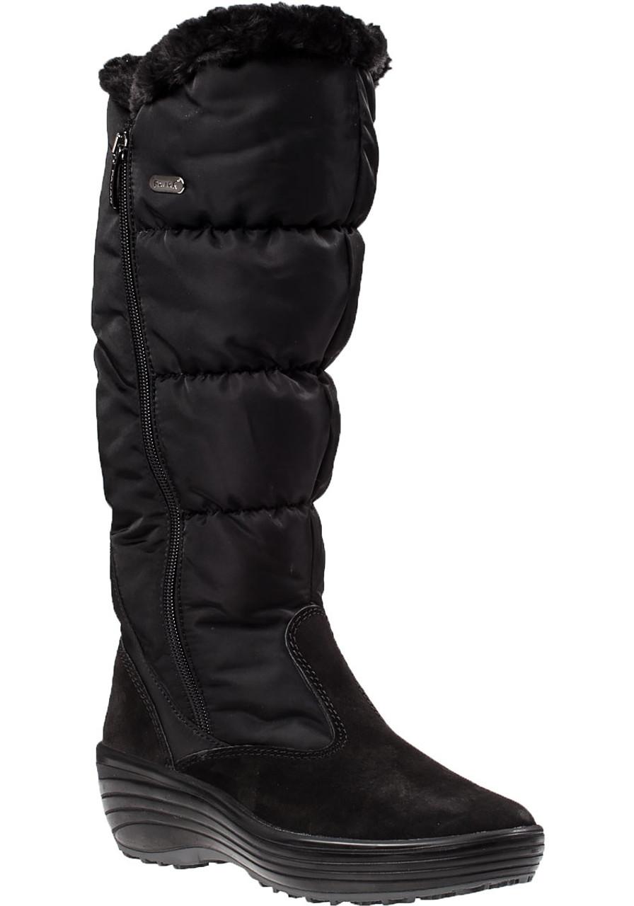 6f37788e07 Amanda Snow Boot Black Fabric - Jildor Shoes