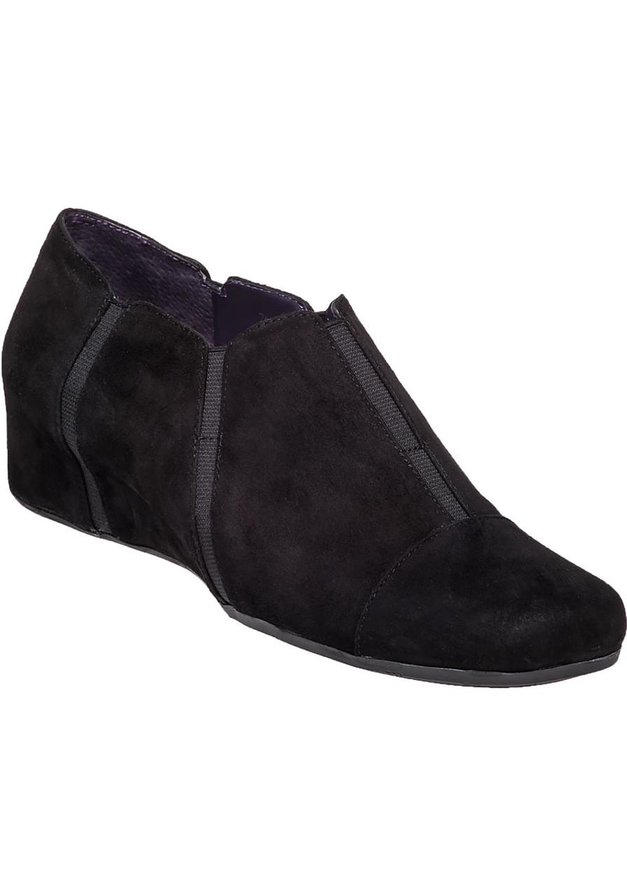 a6163c1db48b Monida Black Suede Wedge - Jildor Shoes