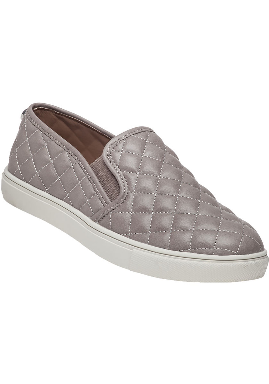 843c9f8552b Ecentrcq Grey Quilted Slip-On Sneaker - Jildor Shoes