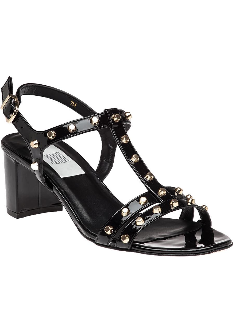 Patent Patent Black Mette Mette Leather Black Sandal CBsdtxQrh