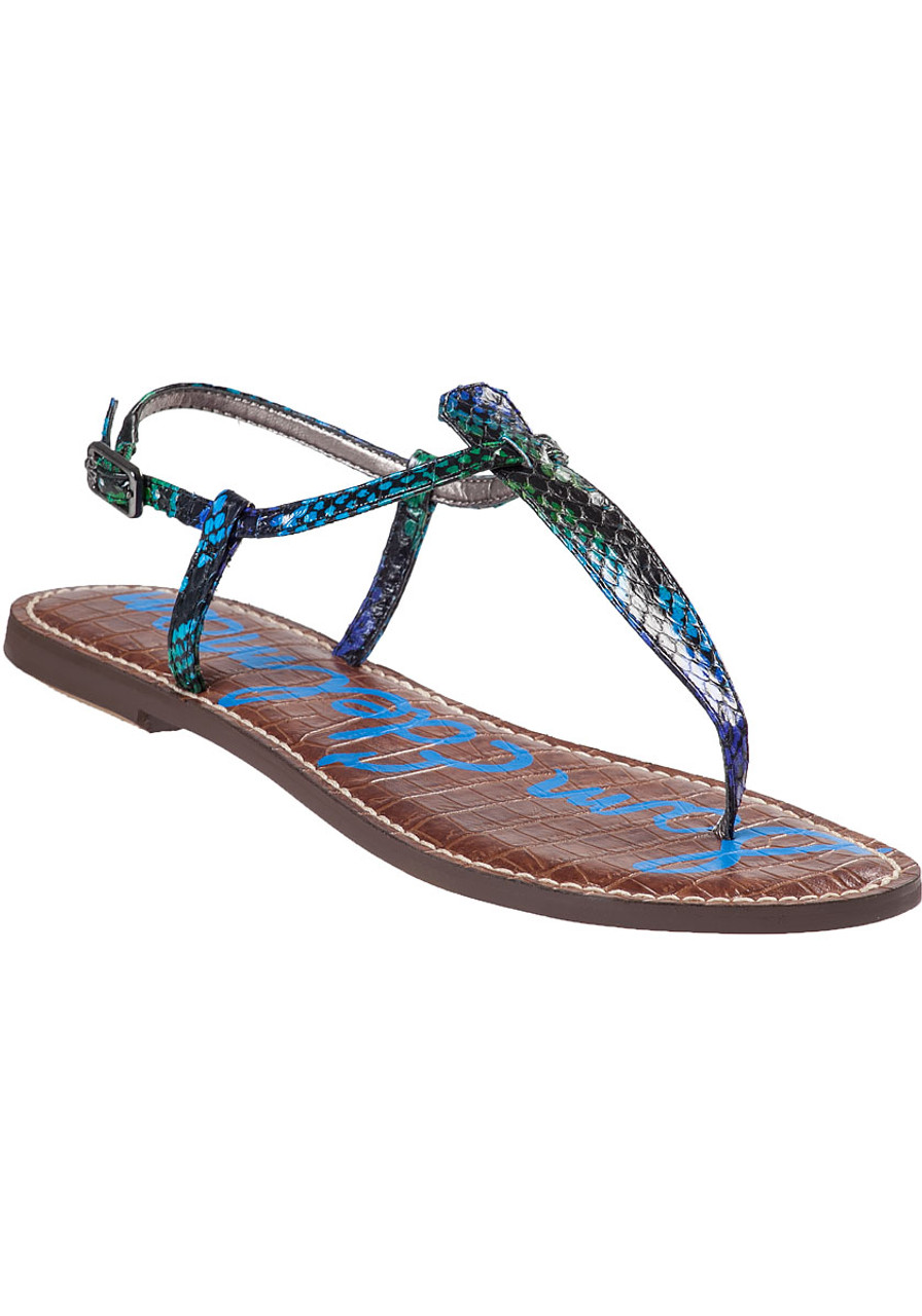 b135bd46bb75d Gigi Sandal Swamp Green Snake - Jildor Shoes