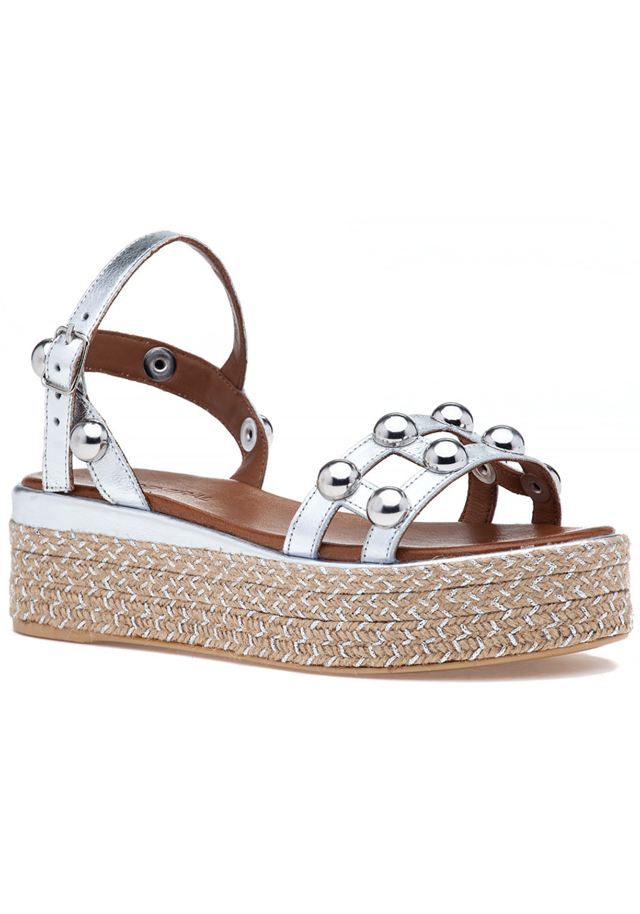 e735f463ac356 8914 Sandal Silver Leather - Jildor Shoes