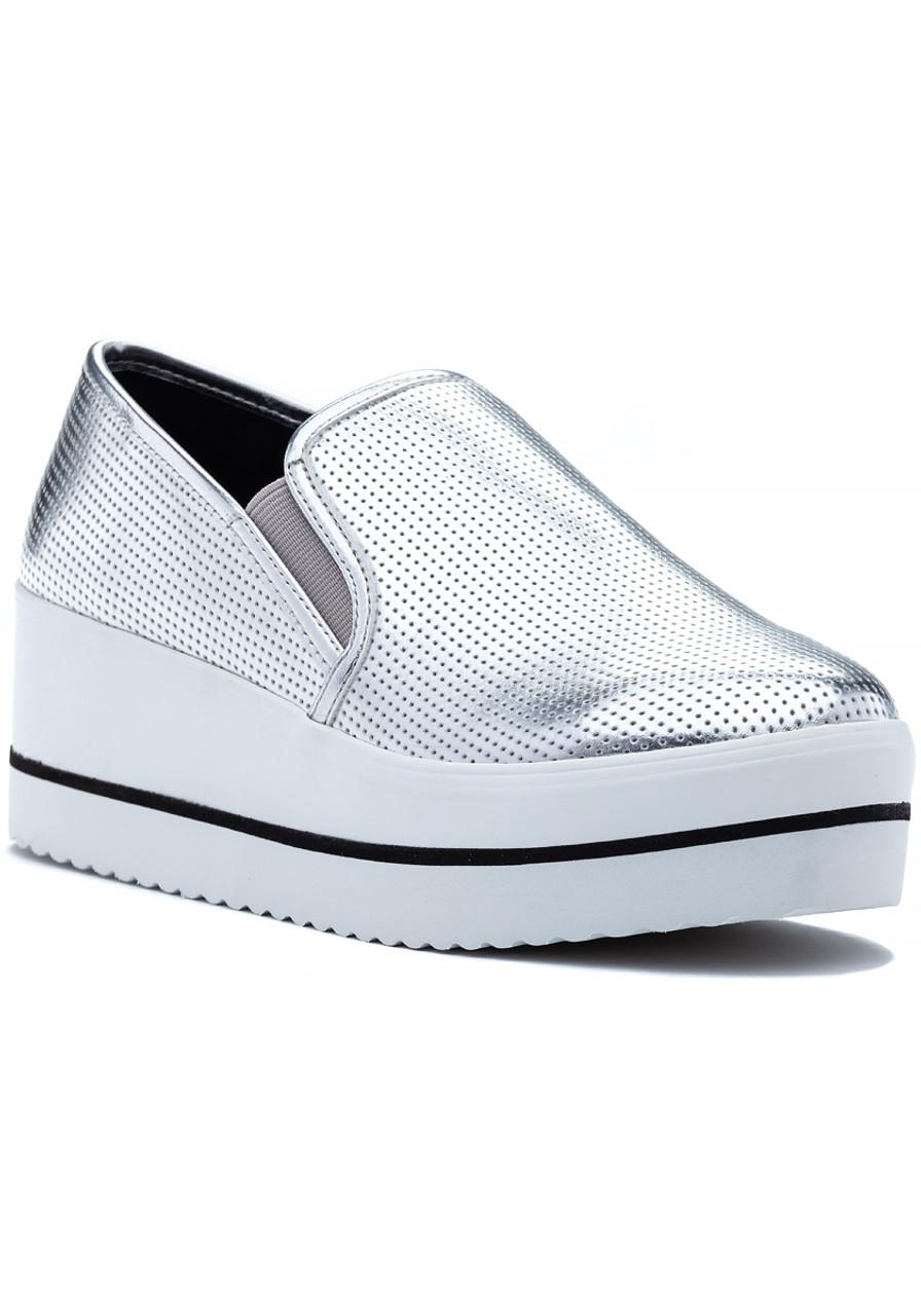 7f4ec706fc0 Becca Sneaker Silver - Jildor Shoes