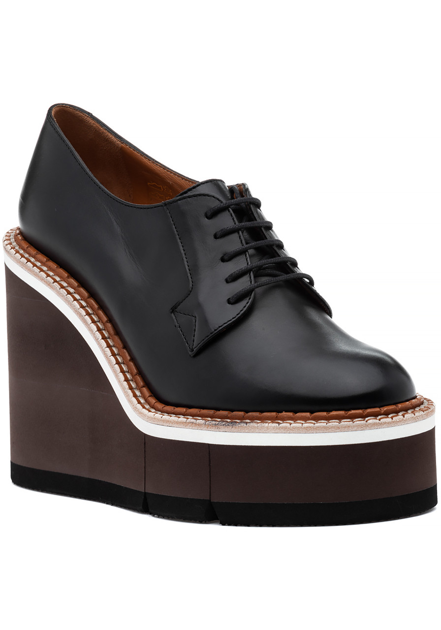 3dedade8f946 Badiane Oxford Wedge Black Gold - Jildor Shoes