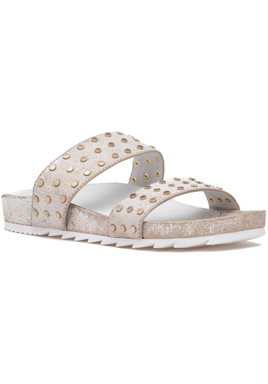 60992554d23048 Erika Sandal Bronze Metallic Suede - Jildor Shoes