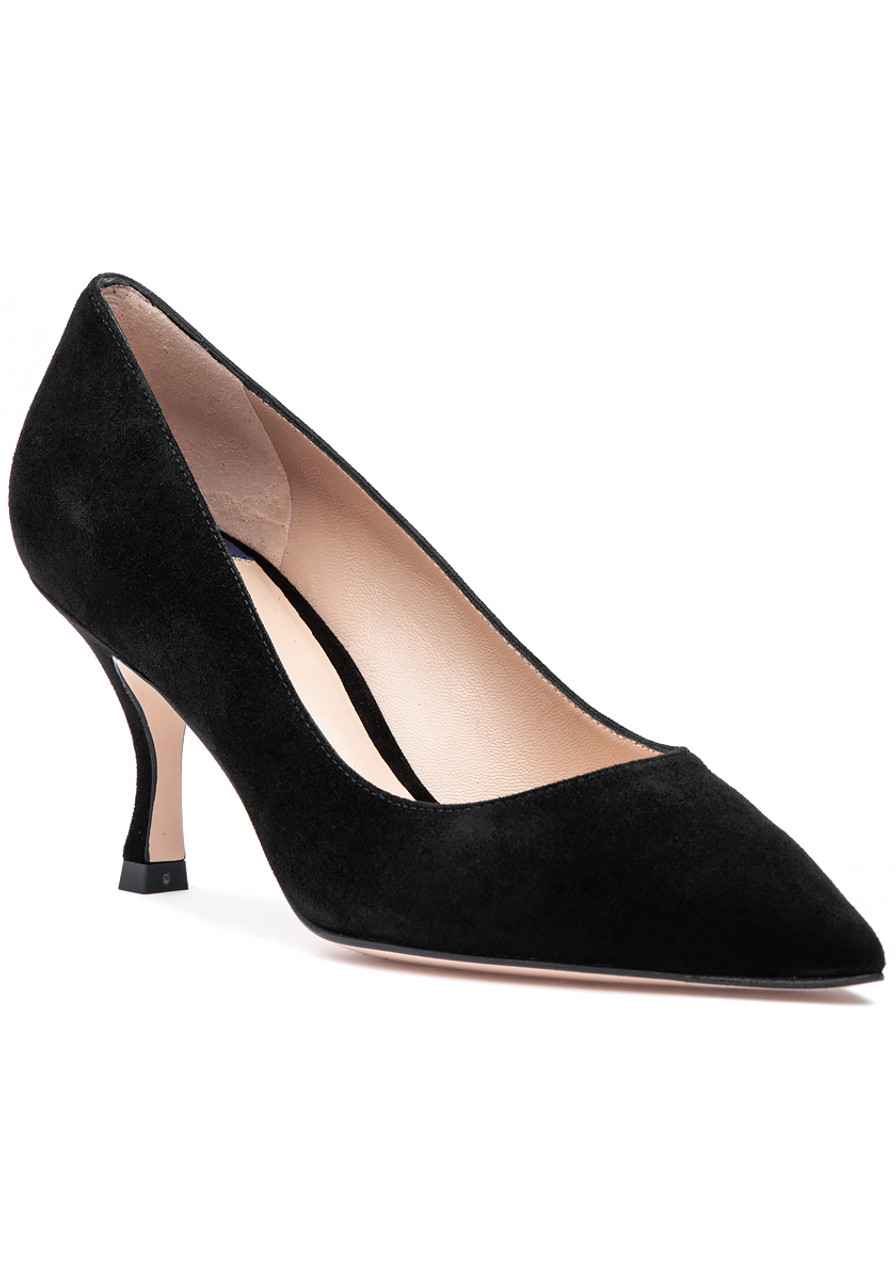 3d2bdb1589 Tippi 70 Pump Black Suede - Jildor Shoes