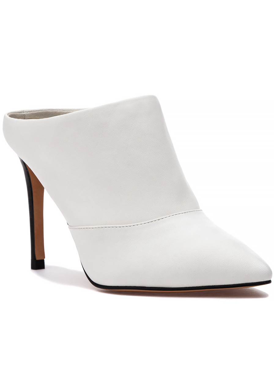 4db358b70a Cinda Mule Off White Leather - Jildor Shoes