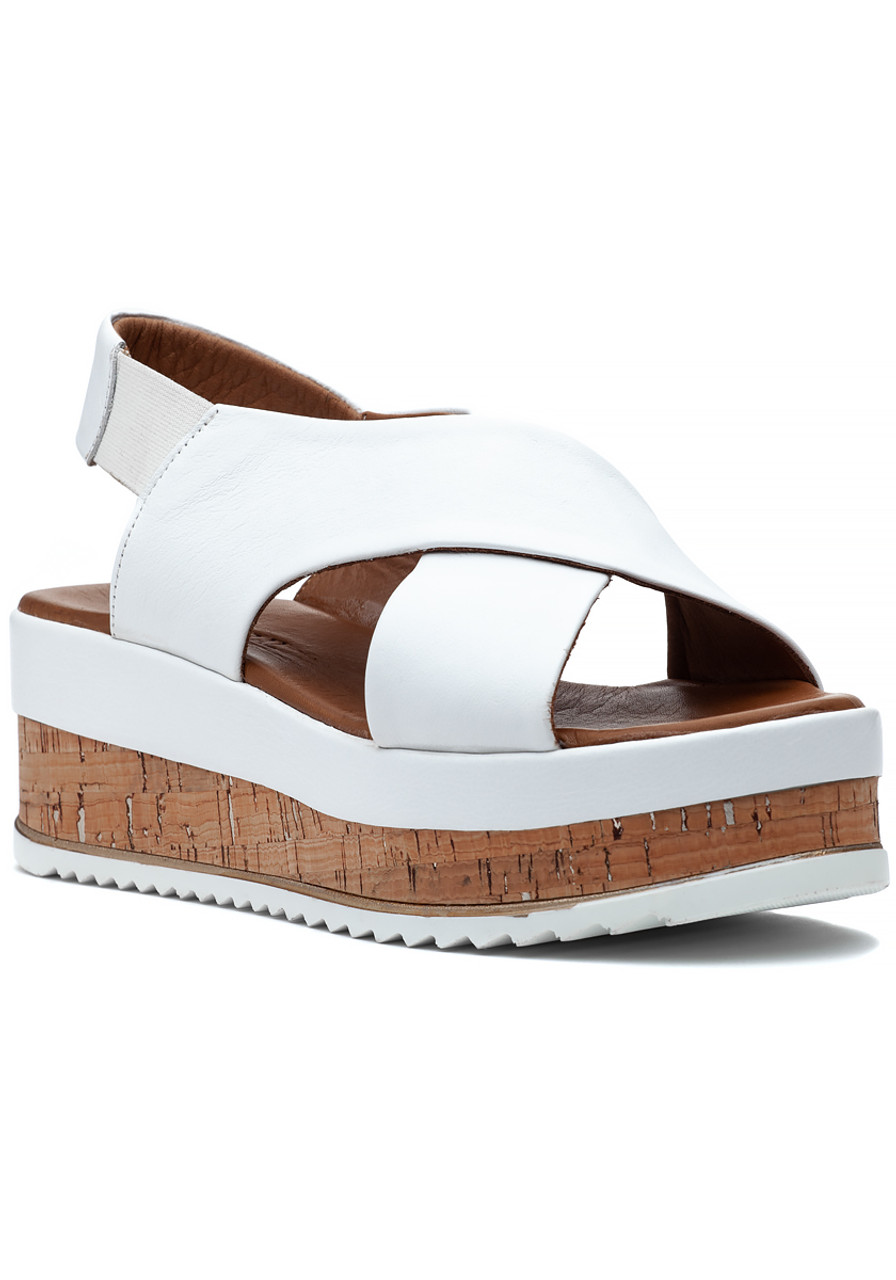 8db76383fb5 Izzy Sandal White Leather - Jildor Shoes