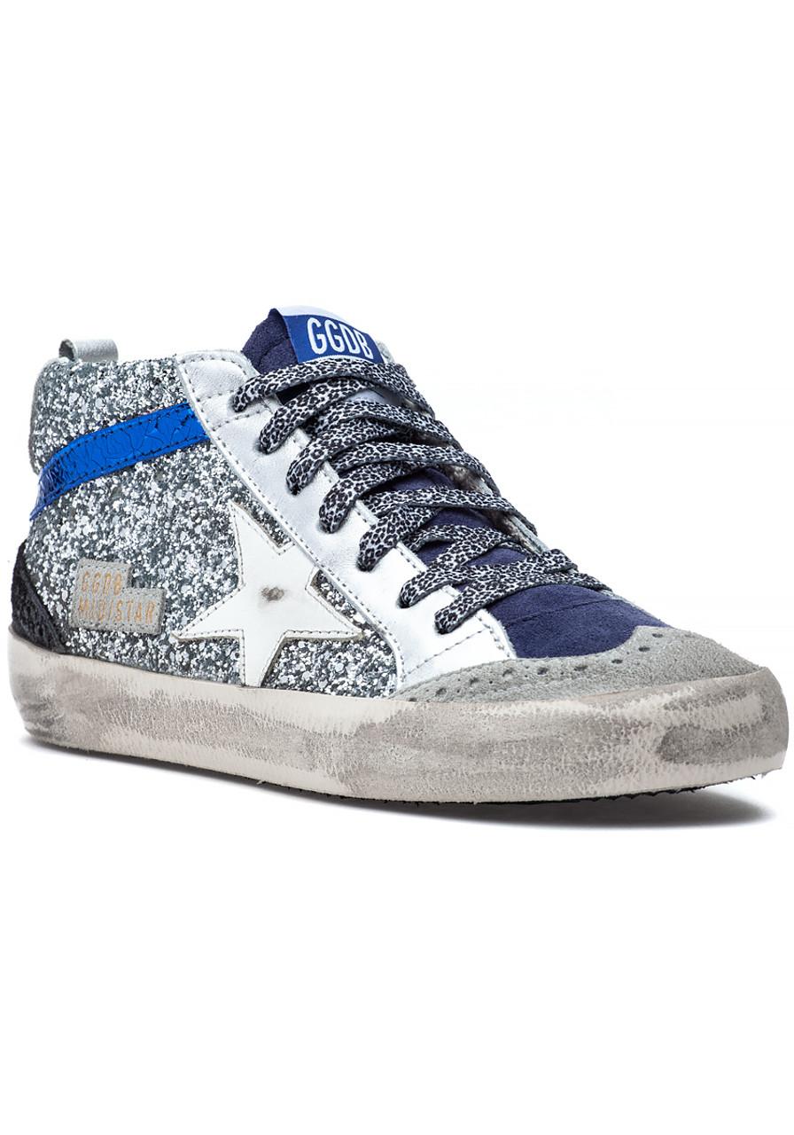 7e44be8ba4b8 Mid Star Sneaker Silver Glitter - Jildor Shoes
