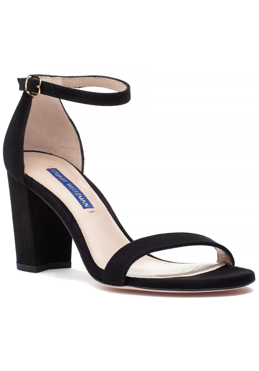 3ea802420a1 Nearlynude Sandal Black Suede - Jildor Shoes
