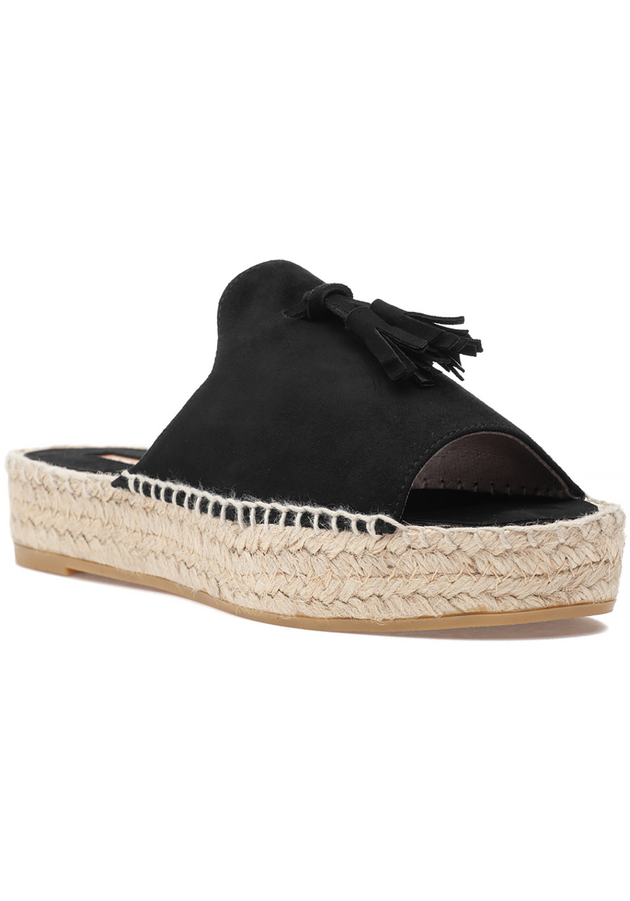 0546bdebdf6 Cameron Espadrille Sandal Black Suede - Jildor Shoes