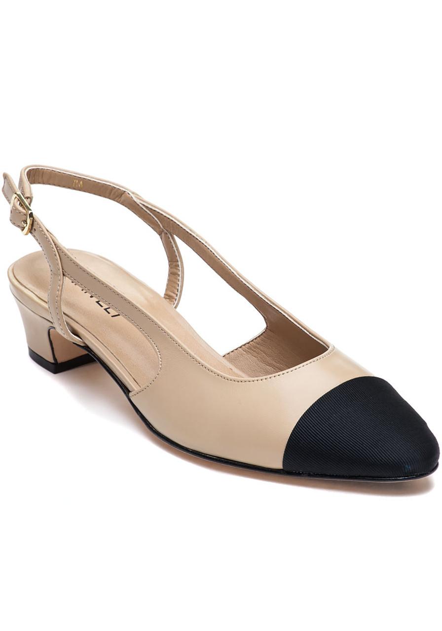 a48a65baf60 Aliz Pudding Nappa Leather Pump - Jildor Shoes