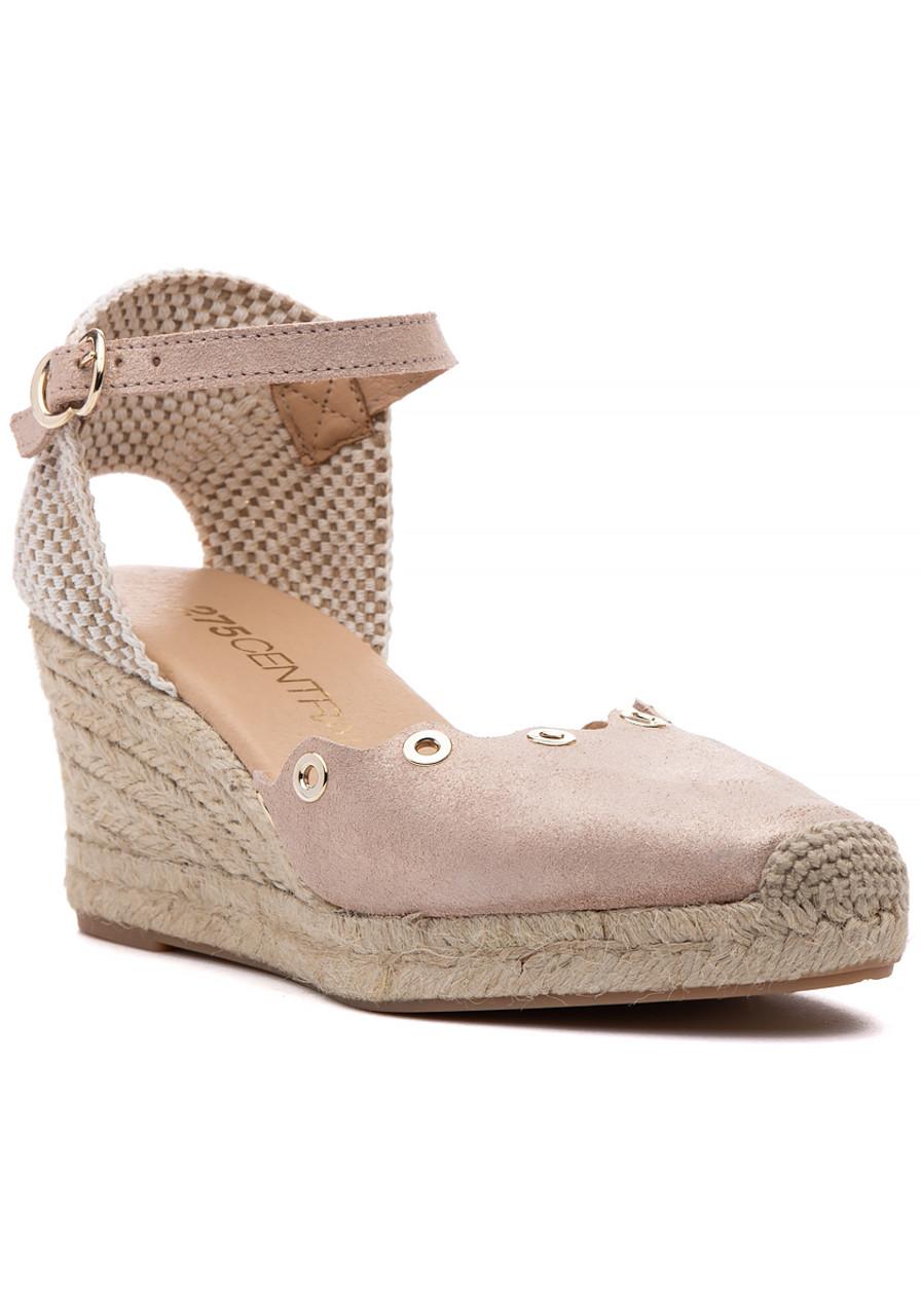 b5e46f50a13 Lonjes Espadrille Wedge Nude - Jildor Shoes