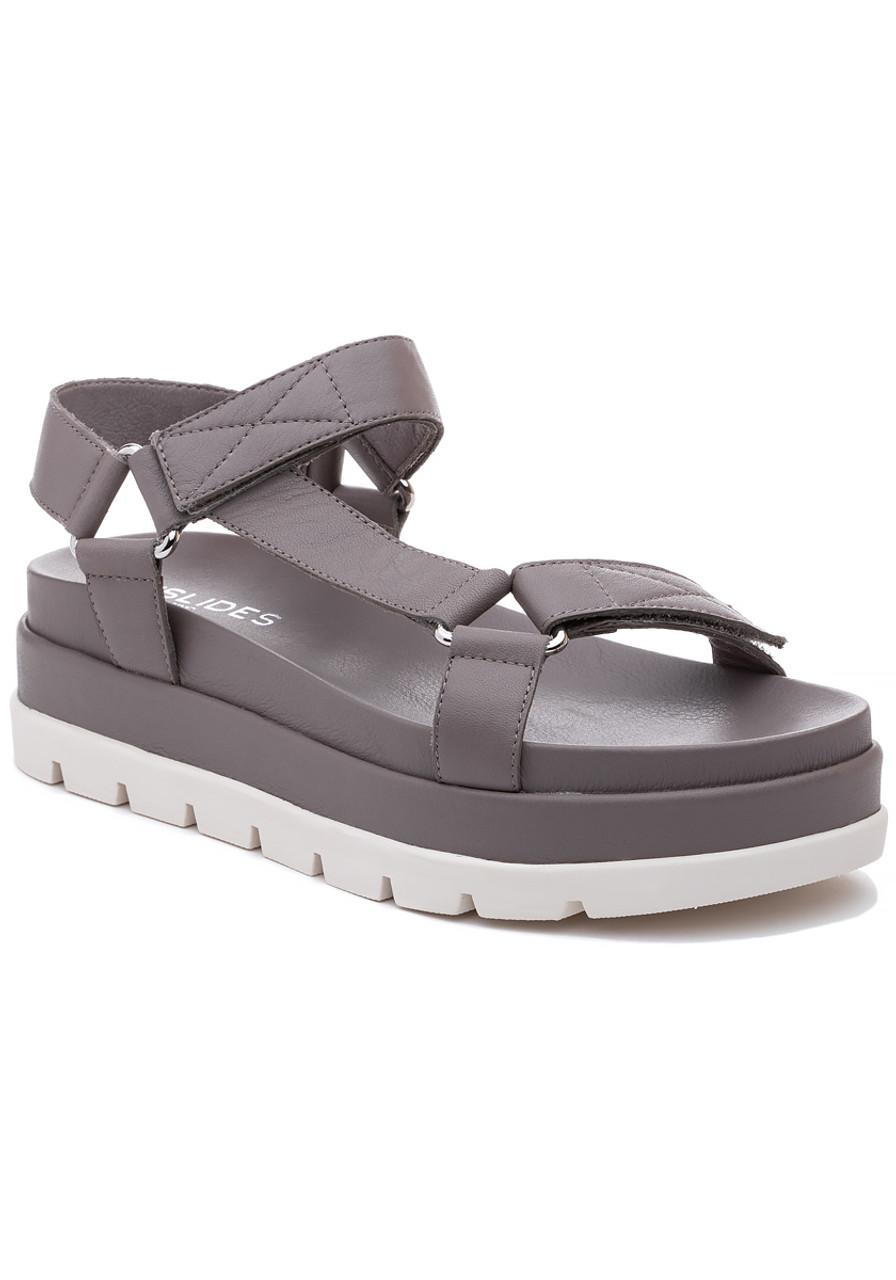 1baff688e1f Blakely Sandal Grey Leather - Jildor Shoes