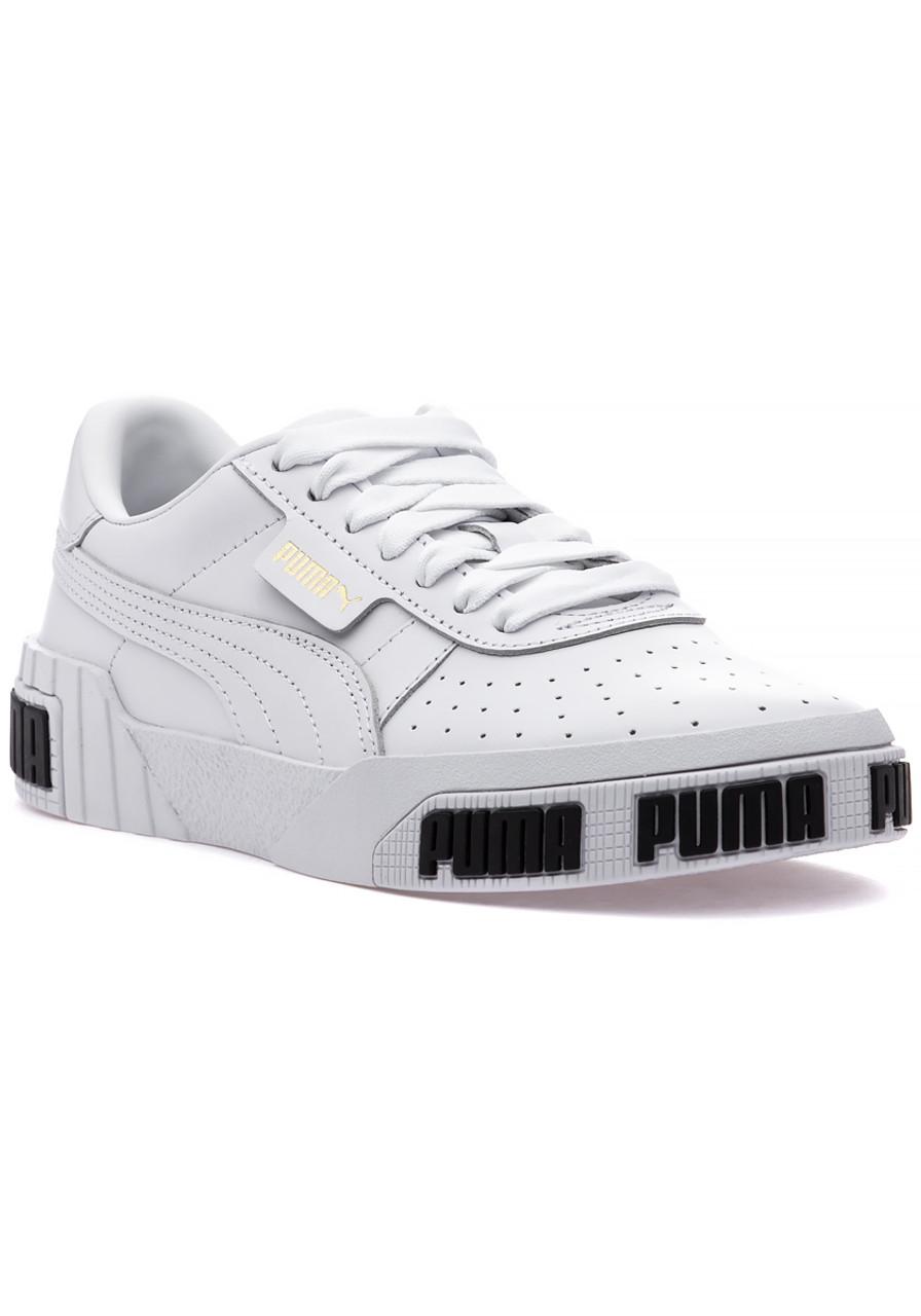 Cali Bold Sneaker White Metallic Gold