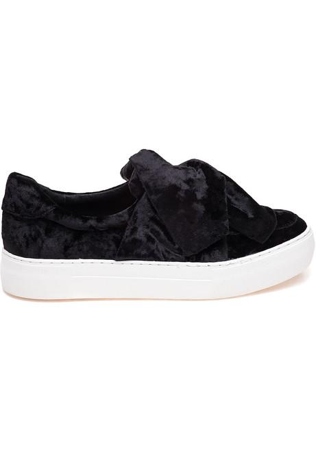 f658895640b7 Annabelle Black Velvet Slip On - Jildor Shoes