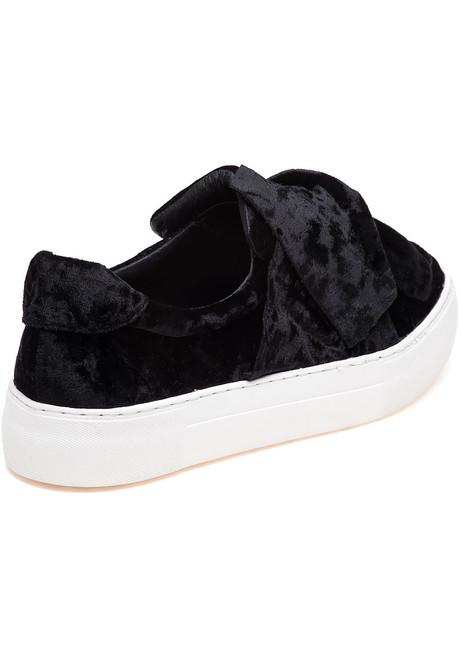 e2e0c9ba928b Annabelle Black Velvet Slip On - Jildor Shoes
