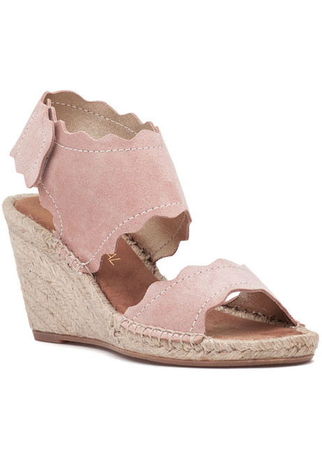 fd784cad3e8 Queca-SS Espadrille Wedge Nude Metal Suede