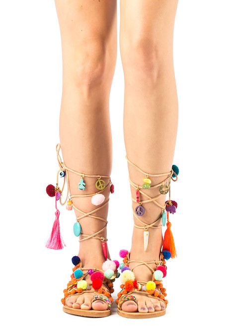 69c78cf26b12 Penny Lane Gladiator Sandal Multi - Jildor Shoes