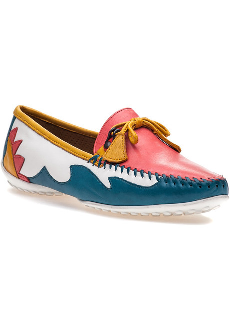 6d75c5fc381 Mare White Coral Multi Leather Loafer