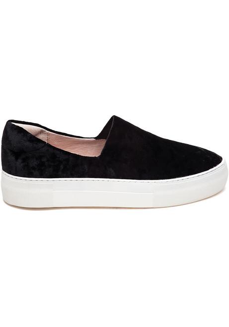 deb29e09efc6 Angel Black Velvet Slip On Sneaker - Jildor Shoes