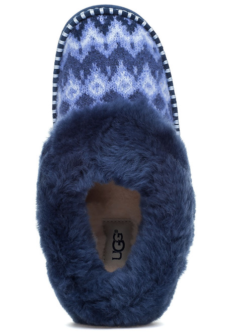 2ee359bf4 Wrin Icelandic Navy Fabric Slipper - Jildor Shoes
