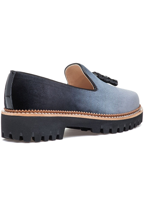c8b00bb72df Gogo Loafer Grey Velvet - Jildor Shoes