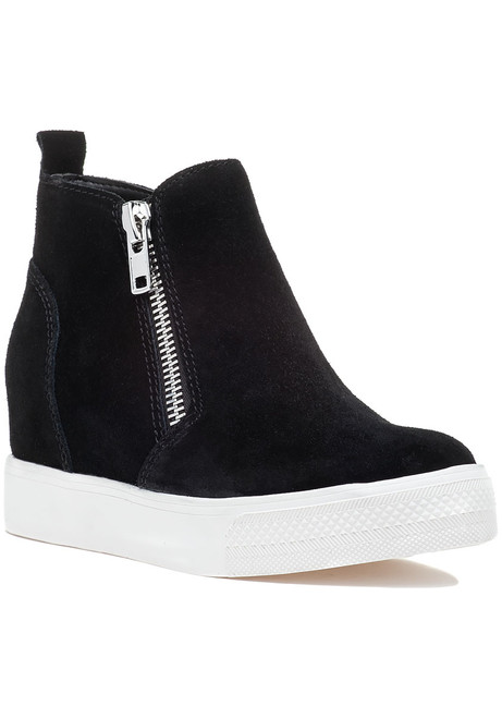 e7e203e47de Lazaruss Black Suede Sneaker Wedge - Jildor Shoes