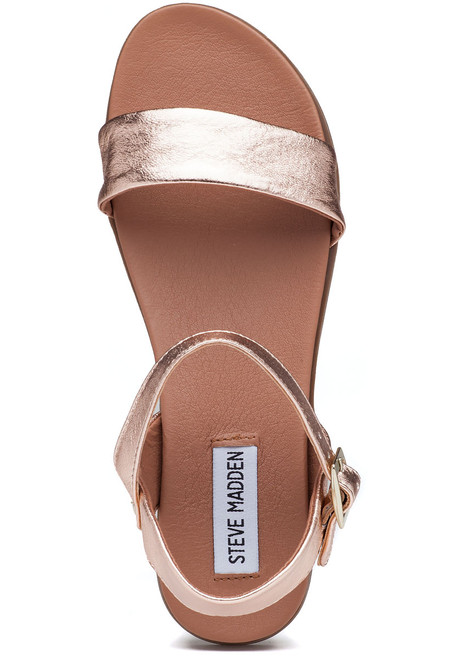 895c8f9a726 Dina Sandal Rose Gold Leather - Jildor Shoes