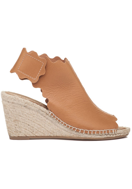 b00e74c3464 Quonda-N Espadrille Wedge Camel Leather - Jildor Shoes