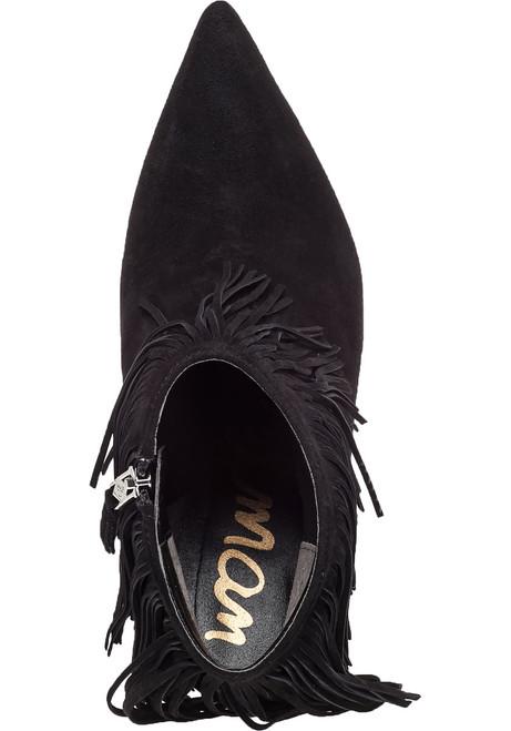 fac8b025d809 Kandice Black Suede Fringe Bootie - Jildor Shoes