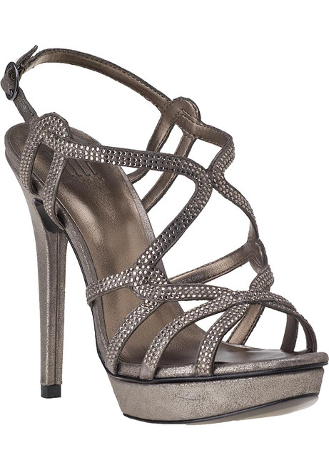 Flirt Evening Sandal Pewter Leather Jildor Shoes