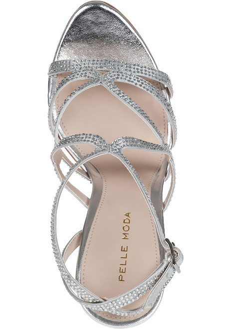 5b204134c6be3 Farah Evening Sandal Silver Leather - Jildor Shoes