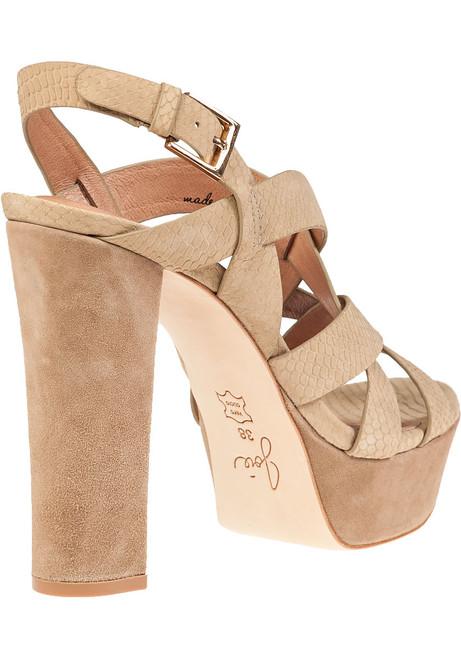 428af3e4f1d3 Inez Platform Sandal Cement Snake - Jildor Shoes