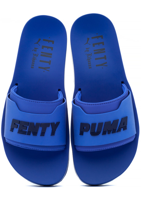 1d501839ece556 FENTY x Puma Surf Slide Blue Evening - Jildor Shoes