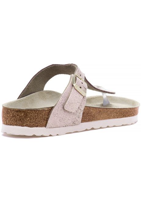 0e2ae362c66 Gizeh Sandal Washed Metallic Rose Gold - Jildor Shoes
