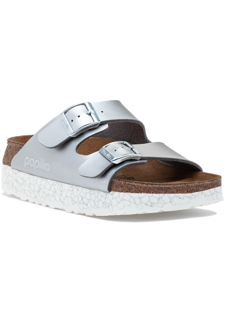 b3a3657e241 Arizona Platform Sandal Silver.  100.00. Birkenstock