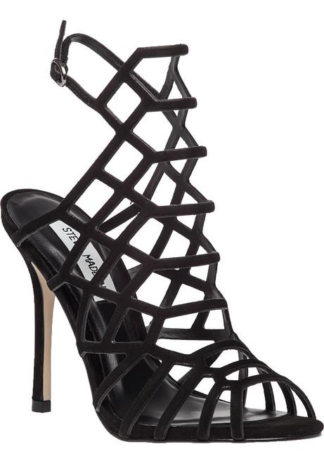 773aacead949 Slithur Black Suede Sandal