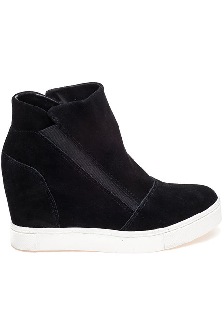 0e07e5ed11d Lazaruss Black Suede Sneaker Wedge · Lazaruss Black Suede Sneaker Wedge ...